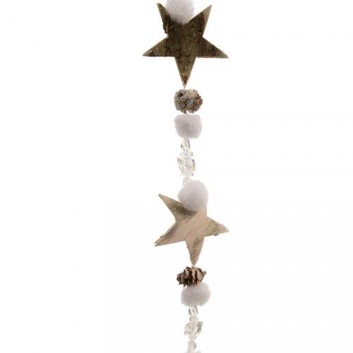 Guirlande Noël Nature Pins et Etoiles (1 m)