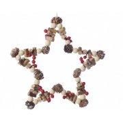 Suspension Etoile Noël Nature Maxi (23 cm) - Pin et Bois