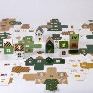 Calendrier de l'Avent Village Vert - Carton
