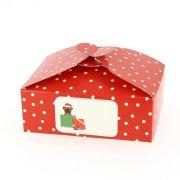 6 Boîtes Cadeaux Pois Rouge/Blanc uni - Carton