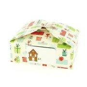 6 Boîtes Cadeaux Paquets de Noël/Vert Uni - Carton