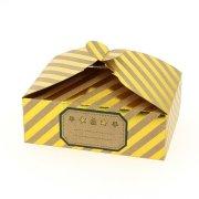 6 Boîtes Cadeaux rayées Or/Brut - Carton
