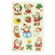 12 Stickers Noël Glitter - Père Noël