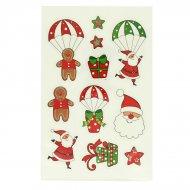 11 Stickers Noël Glitter - Cadeaux