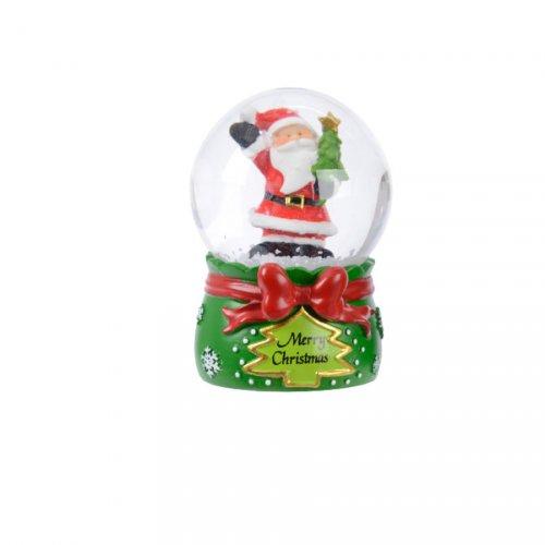 Petite Boule à Neige Père Noël Sapin (6,5 cm)