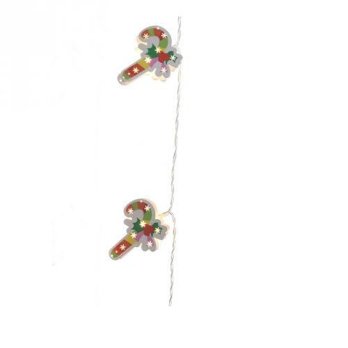 Guirlande Lumineuse Candy Canne (1,35 m) - à Piles