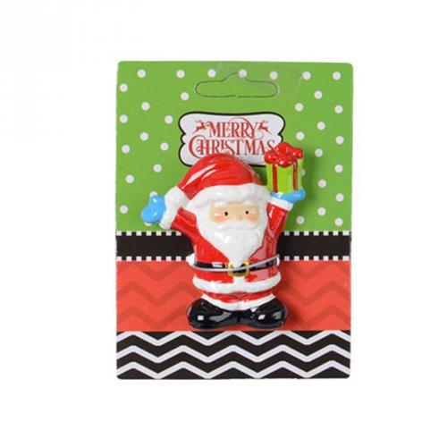 Magnet Père Noël 2D (6 cm) - Céramique