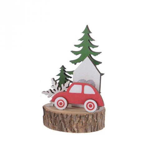Déco en Route pour Noël Sapin Vert (10,5 cm) - Bois