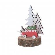 Déco en Route pour Noël Sapin Argent (10,5 cm) - Bois