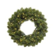 Couronne Sapin Lumineuse 49 LED (40 cm) - Artificiel