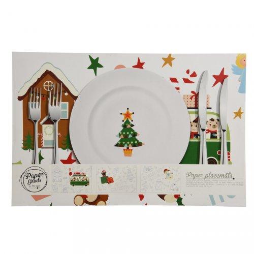 Bloc 36 Sets de Table Noël à Colorier (38 cm) - Papier