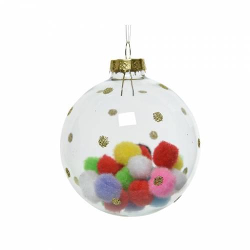 1 Boule Pompon - Noël