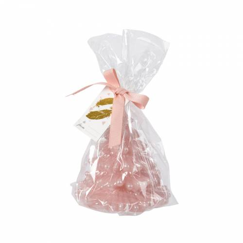 Bougie de Noël - Sapin Rose