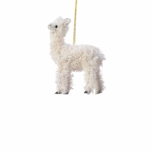 Petit Lama Blanc à  Suspendre - Tissu