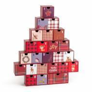Calendrier de l'Avent - Vintage Merry Christmas
