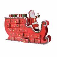 Calendrier de l'Avent Traineau Père Noël (35 cm) - Bois