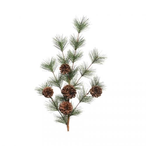Branche Sapin/Pomme de Pin (50 cm) - Plastique
