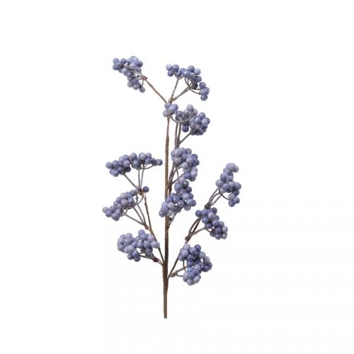 Branche de Baies Mousse (60 cm) - Violet