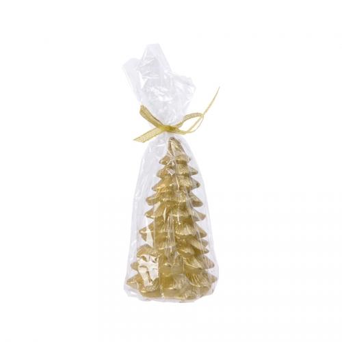 Bougie de Noël - Sapin Or (12cm)
