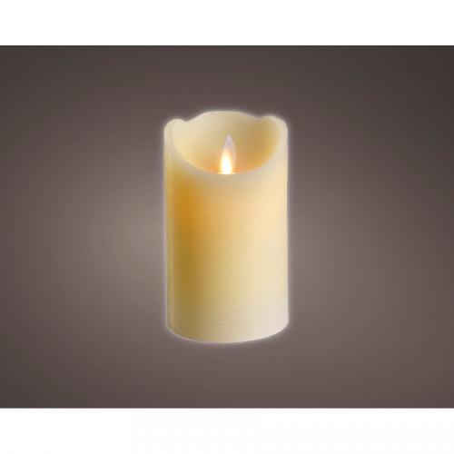 1 Bougie d Intérieur Oscillante LED 12,5 cm- Blanc
