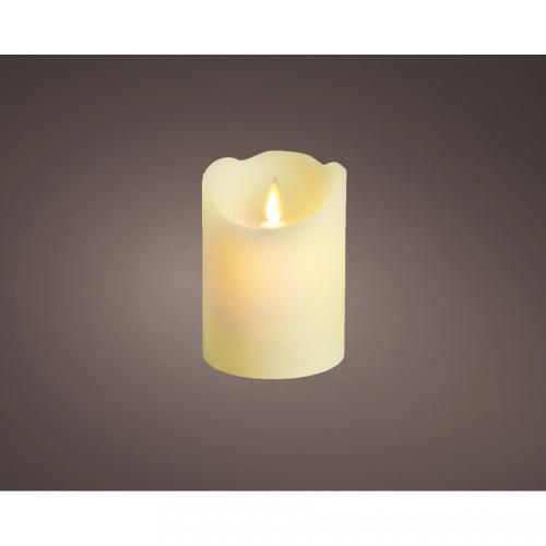 1 Bougie d Intérieur Oscillante LED 10 cm - Blanc