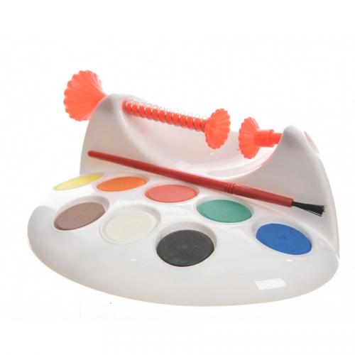 Support Peinture oeufs Plastique avec Peinture et Pinceau