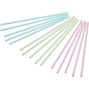 60 B�tonnets Cakes pop Sweety Couleurs pastels