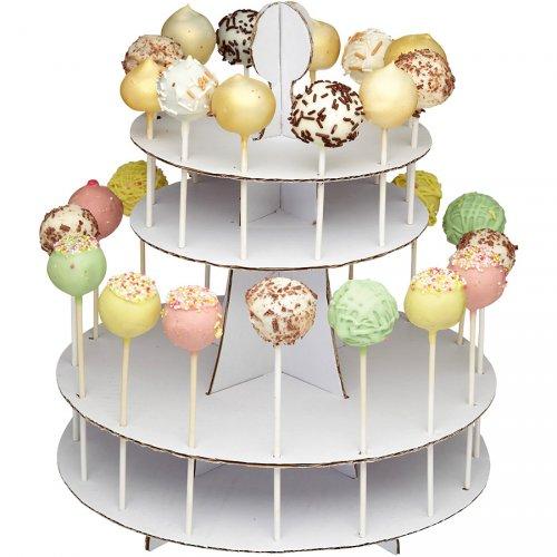 Présentoir 28 Cakes Pop Classy Blanc