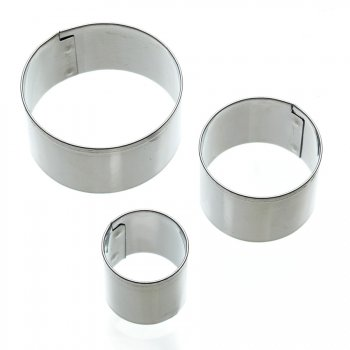 3 Mini emporte-pièces ronds tailles assorties