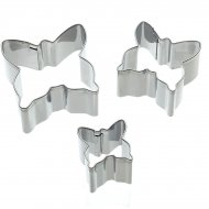 3 mini Emporte-pièces Papillons tailles assorties