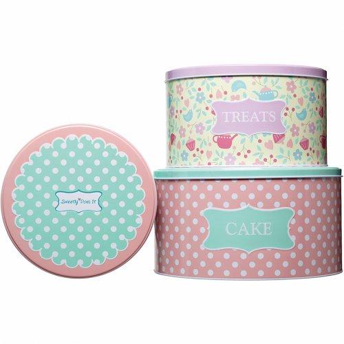 Ensemble 3 Boîtes à Biscuits Pink Romance
