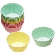 12 moules à mini Cupcakes silicone Pastels
