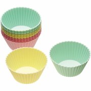 12 Moules � Cupcakes silicone Pastels