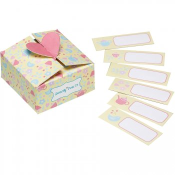 6 mini Boîtes cadeaux Sweet romance