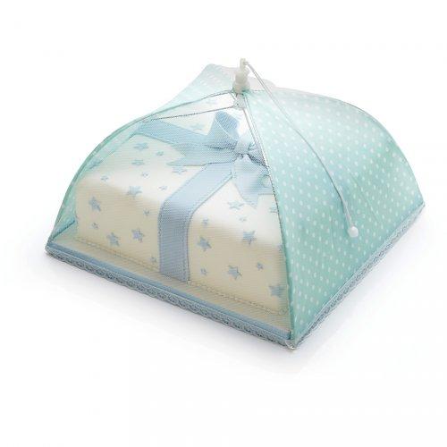 Cloche alimentaire parapluie Pois Turquoise