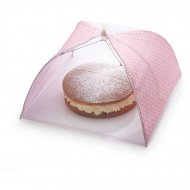 Cloche alimentaire parapluie Pois Rose (Maxi)