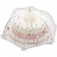 Cloche alimentaire parapluie Fleurs brodées (Medium)