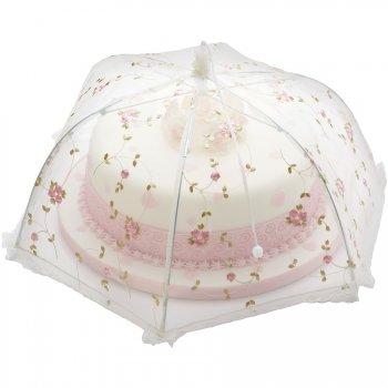 cloche alimentaire parapluie fleurs brod es medium pour l 39 anniversaire de votre enfant annikids. Black Bedroom Furniture Sets. Home Design Ideas