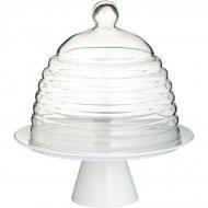 Plat à gâteaux sous cloche (porcelaine et verre)