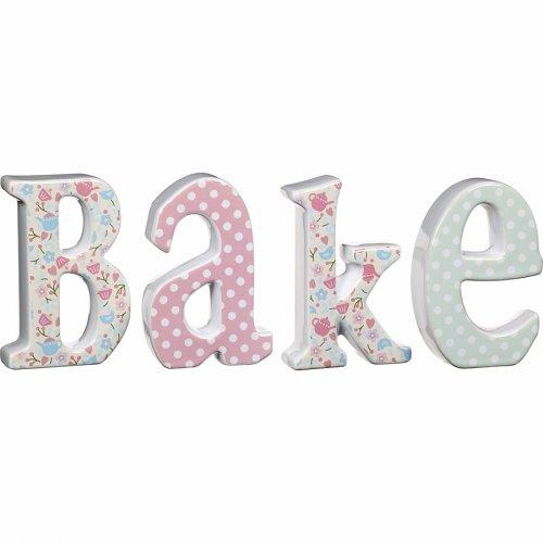 4 Grandes Lettres Déco Bake - Céramique