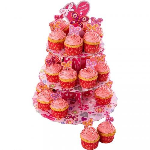 Présentoir et Kit déco Cupcakes Papillons