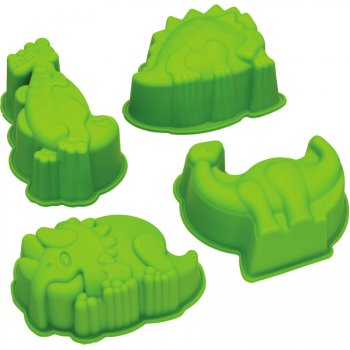 4 Moules Dinosaures (8 cm) - Silicone