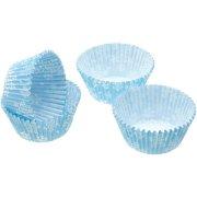 60 Caissettes Cupcake Flocons Bleu