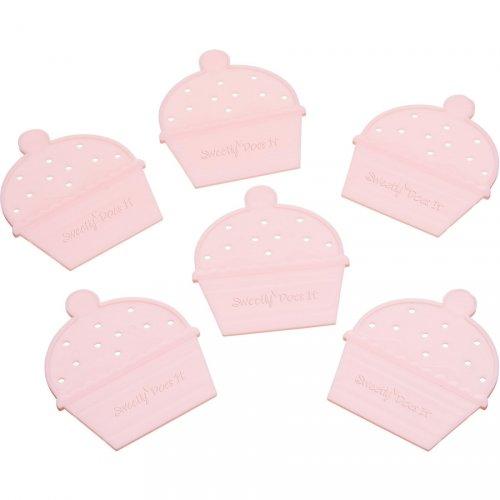6 Séparateurs pour Cupcakes Bicolores