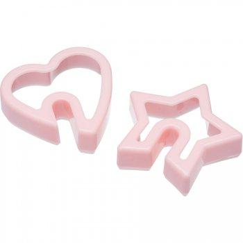 2 Emportes pièces Coeur/Etoile pour Tasse (6 cm) - Plastique