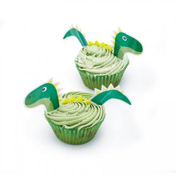 Kit 24 Cupcakes Dinosaure (Caissettes, Déco, Bonbons)
