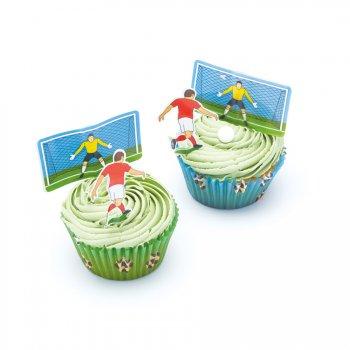 Kit 24 Cupcakes Football (Caissettes, Déco, Bonbons)