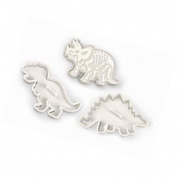 3 Emporte-pièces Dino avec relief (13 cm)