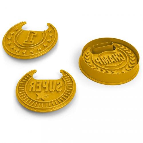 3 Emporte-pièces Médailles avec relief