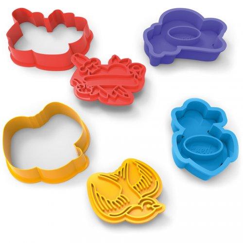 4 Emporte-pièces Tatoos avec relief (9 cm)